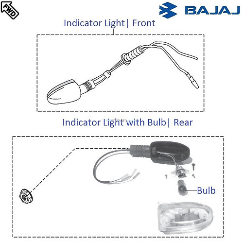 Indicator Lights| Pulsar 220F