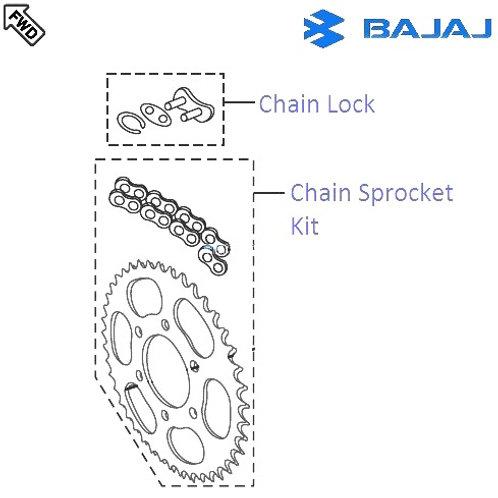 Chain Sprocket set for Bajaj V15
