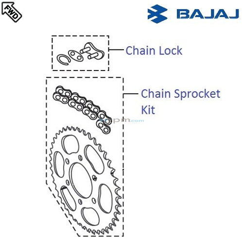 Bajaj Dominor 400 Chain And Sprocket.