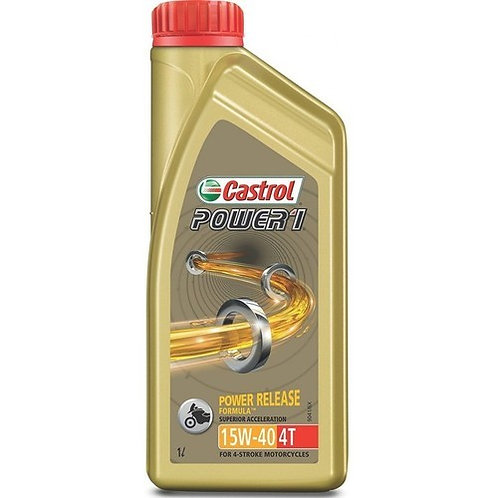 Castrol POWER1 4T 15W-40  Synthetic Engine Oil for Bikes (1L)