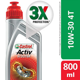 Castrol Activ Scooter 10W-30 4-at Petrol Engine Oil for Scooters (800 ml)