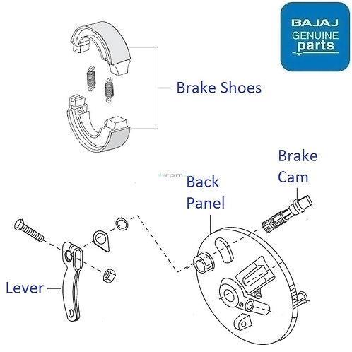 Front drum brake Shoe for Discover