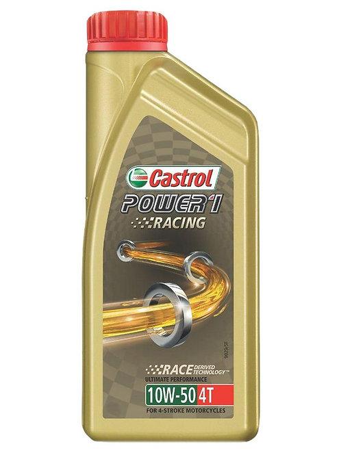 Castrol Power1 Racing 4T 10W-50 Petrol Engine Oil for Bikes (1 L)