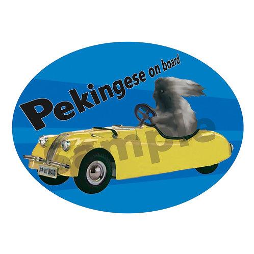 カーステッカー ペキニーズ フォーン レーシングカー