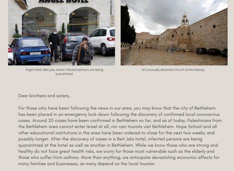 Pray for Bethlehem Area as it Faces Coronavirus