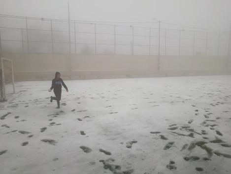 Snow covers Beit Jala
