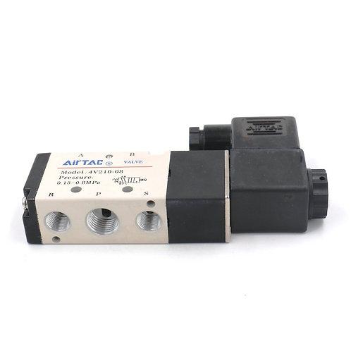"""Valve électromagnétique pneumatique 4V210-08 PT1 / 4 """"Heschen Position pilotée e"""