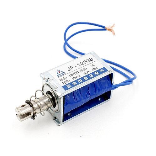 Baomain Solenoid Electromagnet JF-1253B DC 12V 1A 42N/10mm Pull Push Type