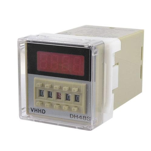 Time Relay DH48S-2ZH AC/DC24V DPDT 8P 0.01S-99H99M Timer Delay DIN Rail w Socket