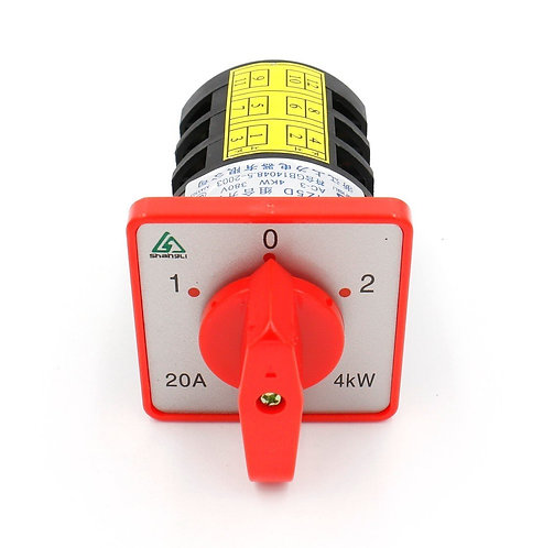 380V 20A 1-0-2 On-Off-On 3 Positions 12 Terminals Changeover Control Rotary Cam