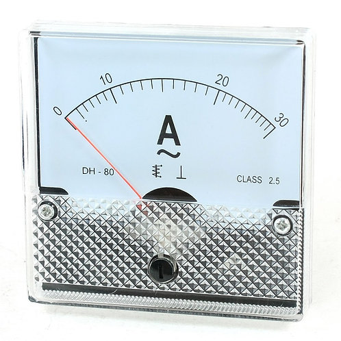 Baomain Ammeter DH-80 Analog Current Panel Meter Class 2.5 AC 0-30A
