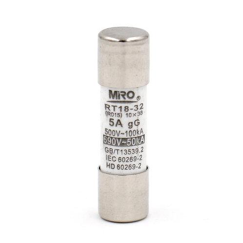 Fuse Link RT18-32 5A Tubo de cerámica cilíndrico 10x38mm 500V 20 Pack