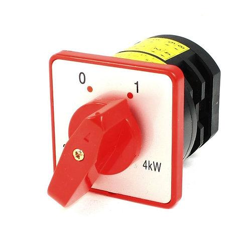 Interruptor de cambio HZ5-20 / 4 AC 380V 20A 4KW 2 posiciones 4NO enclavamiento