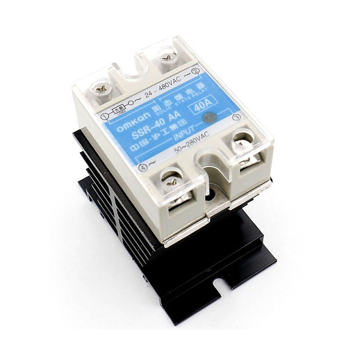 SSR-40AA 40A AC to AC Covered Solid State Module Relay 50-280V AC 24-480V AC +
