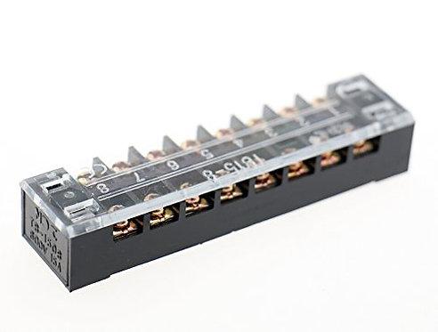 Heschen 600v 15A Dual Row 8Position Screw Connector Barrier Terminal Block