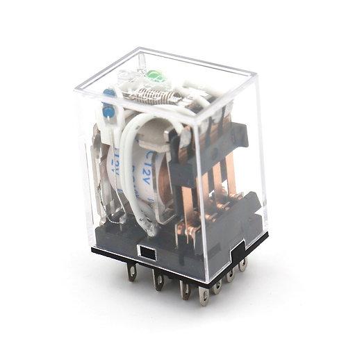 Relé de potencia de propósito general HH54P DC 12V Bobina LED Indicador terminal