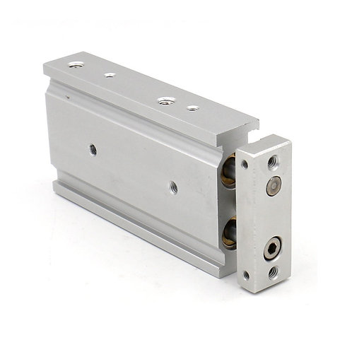 Heschen Compact Cylindre à air en aluminium CXSM 25-100 Guide Rod Plate Double R
