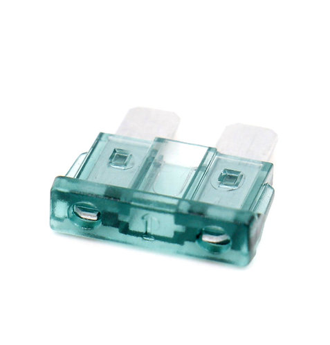 ATC-1 Clear Green ATO / ATC 1 Amp Fast-Acting Automotive Blade Fuses - 25 Pack