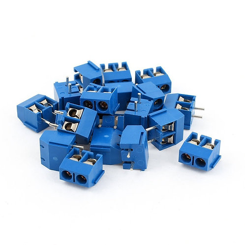 Heschen 20 Stück 5,08 mm Pitch 2Pin Leiterplattenmontage Schraubklemmenblock Con