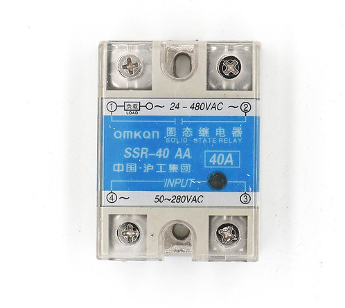 Heschen SSR-40AA 40A AC to AC Covered Solid State Module Relay 50-280V AC 24-480