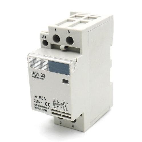 Heschen AC Contactor HC1-63 220V 63A 2 polos Universal Circuit Control DIN Rail