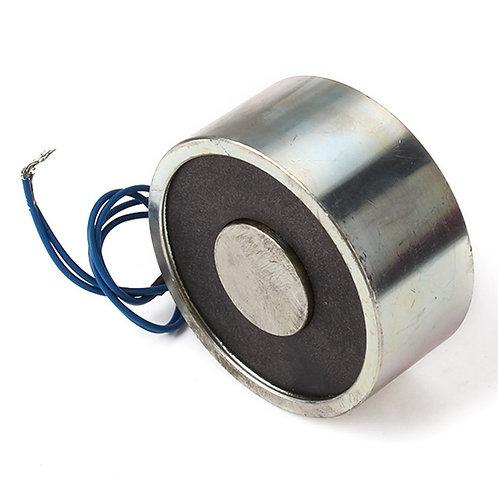 Baomain Electromagnet Solenoid P 65X30 176LB / 80kg Force Lifting Magnet 12V DC