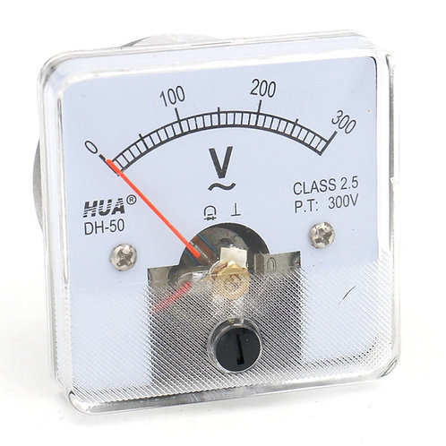 Baomain Voltmeter DH-50 Square Shaped Voltage Panel Meter AC 0-300V