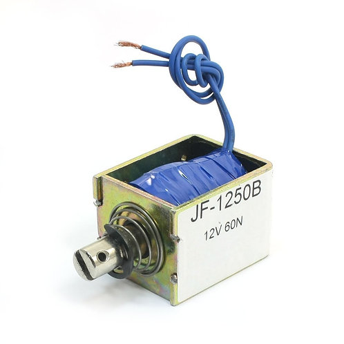 Solenoid Electromagnet JF-1250B DC 12V 60N/10mm Pull Push Wired Linear Motion