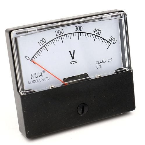 Voltmeter DH-670 DC 0-500V Rechteckige Klasse 2.5 Analog Panel Volt Volt Mete