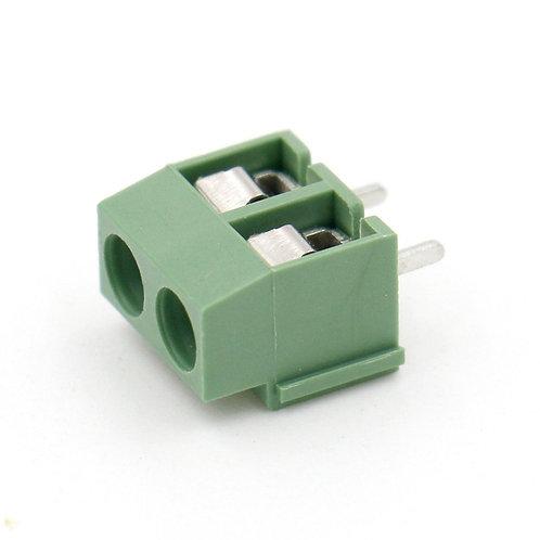 Heschen 5Pcs 2 Pole 5mm Pitch PCB Mount Bornier à vis 8A 250V vert