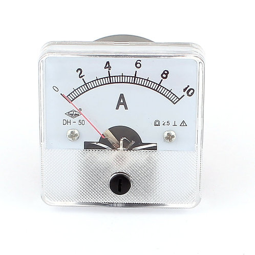 Heschen Ammeter DH-50 Analog Current Panel Meter Class 2.5 DC 0-10A