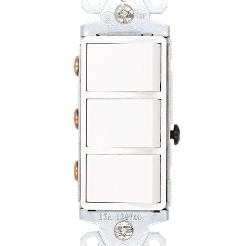 Baomain SW1506-2 15 Amp, 120/277 Volt, Decora Brand Style Single-Pole, AC Combin