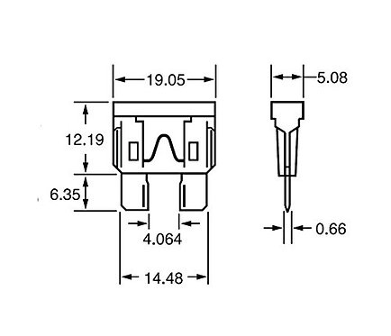 Heschen Blade Fuse ATC-35 35A Fast-Acting Automotive Car Truck 25 pacco