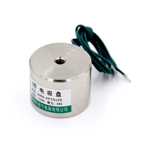 Electromagnet Solenoid P25X20 11LB / 5kg Force Lifting Magnet 25mm 12V DC