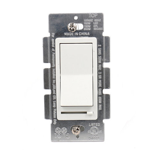 Decora Slide Dimmer LED/CFL/Incandescent 3-Way 120V 600W on/off switch