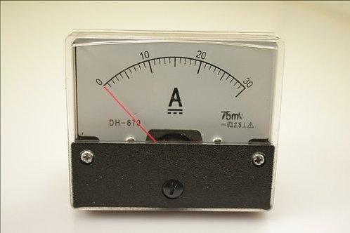 1 unids 670 30A amperímetro actual del metro del panel amperio DC 0-30A + shunt