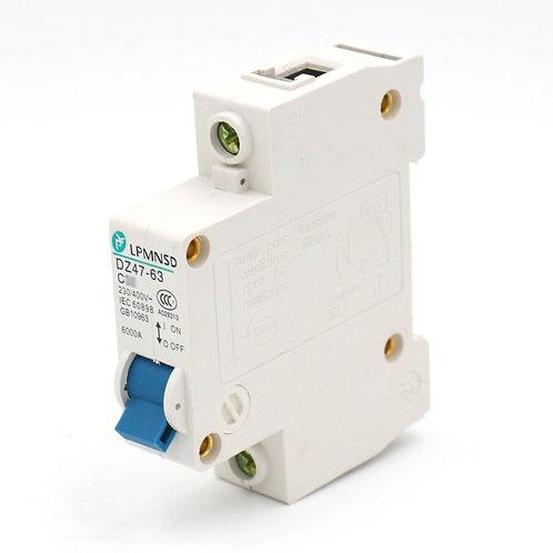 Leistungsschalter DZ47-63 C20 20 Amp 230 / 400VAC 6000A Schaltleistung 1 Pole