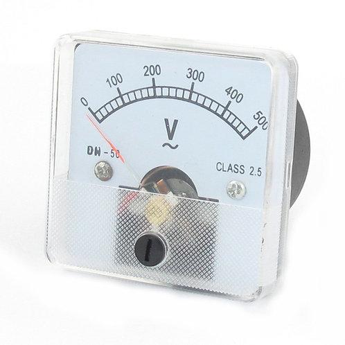Heschen Voltmeter DH-50 Square Shaped Voltage Panel Meter AC 0-500V