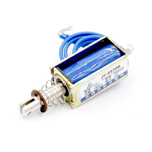 Heschen Solenoid Electromagnet JF-0530B DC 12V 300mA 10mm 5N PushPull