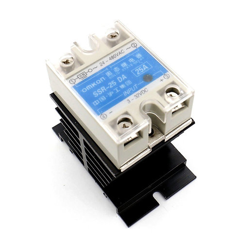 SSR-25DA Temperaturregelung AC 24 V-480 V 25A Ausgang Solid State Relais + Wärme