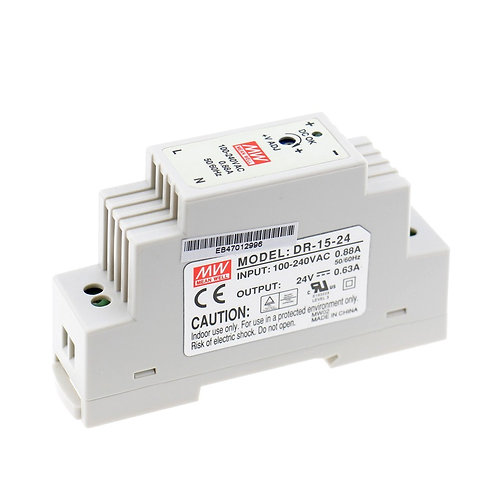 Baomain 15W Single Output Industrial DIN Rail Power Supply DR-15-24