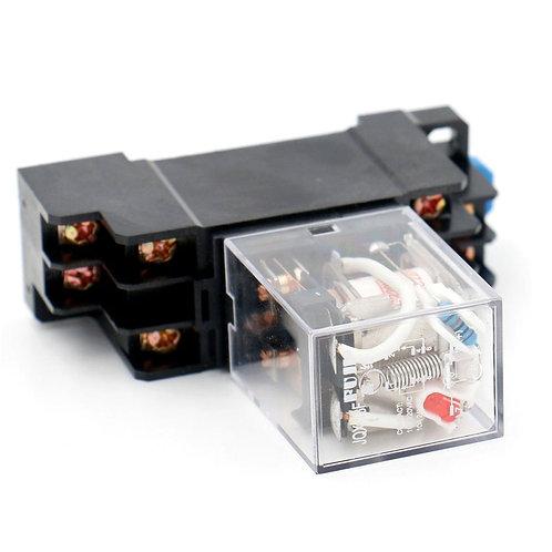 JQX-13F AC 220 V Spule LED-Anzeige 8-poliger Anschluss w DIN-Schiene PTF08A Sock