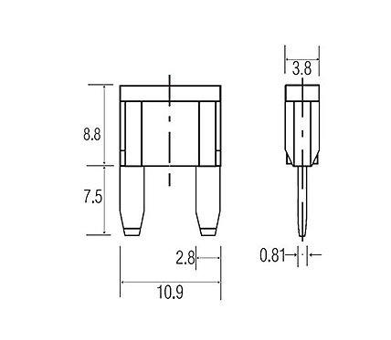 Heschen ATM-3 3A Fusibile Mini Blade ATM ad azione rapida 25 pacchi