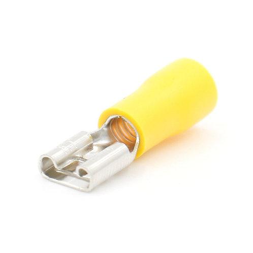 100PCS Giallo Femmina Sconnette Terminale a crimpare singolo 12--10 AWG 4.0-6.0m