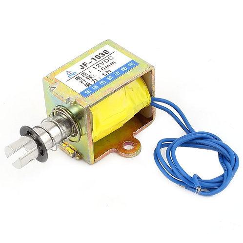 Electroimán de Heschen Electroimán JF-1038 DC 12V 10mm 5N Extraer bobina abierta