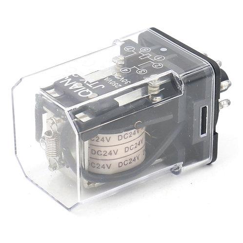 Relé de potencia electromagnética Heschen JTX-2C DPDT 8 contactos redondos DC24V