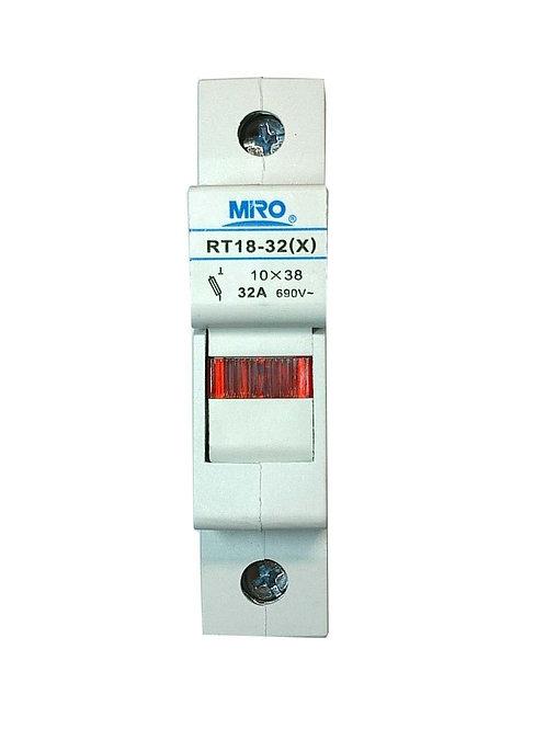 Baomain RT18-32(X) cylindrical fuse holders 1038 32Amp 690VAC