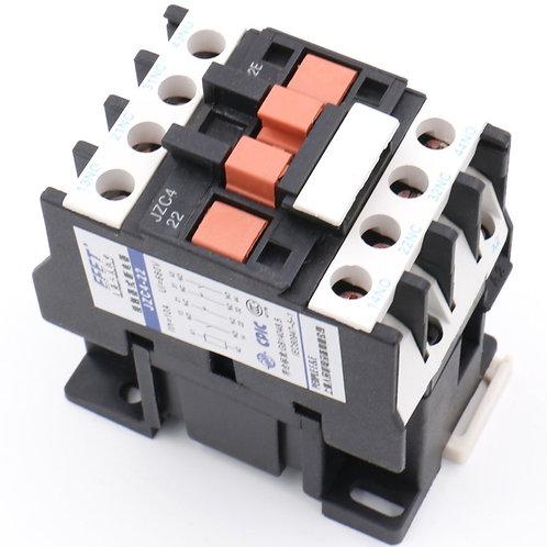 Heschen Contattore AC JZC4-22 110-130 V 50/60 Hz Bobina 10A 3P Tre poli 2NO 2NC