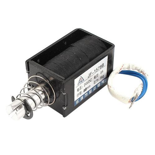Heschen Magnet Elektromagnet JF-1578B DC 24V 5Kg 30mm Offener Rahmen Push Pull E