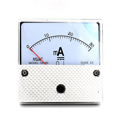 Baomain DH80 DC 0-30mA Milli Amp Panel Meter Gauge Screw Mounted Scale Range